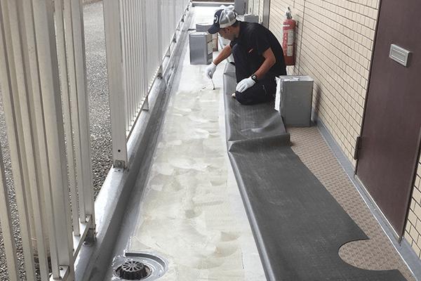 防水材の張替え