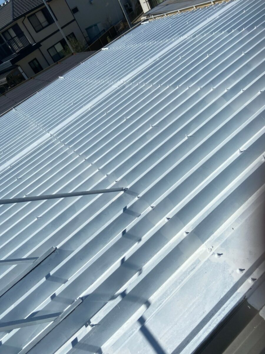 折半屋根錆止め塗装の画像